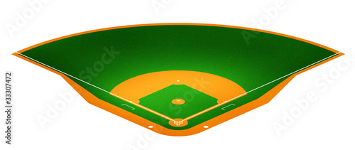 Illustration of Baseball field.