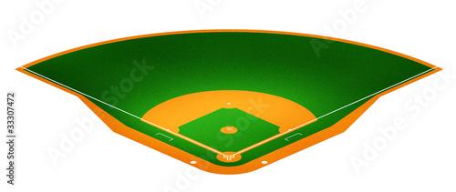 Illustration of Baseball field.