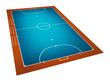 Illustration of Futsal ( Indoor football ) field.