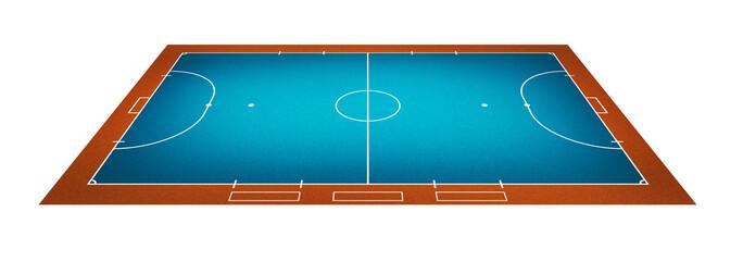 Illustration of Futsal ( Indoor football ) field.