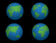 Earth with four different views! Vector!