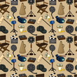 cartoon movie element seamless pattern