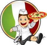 Young Italian pizza