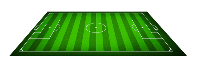 Illustration of a soccer field.