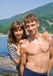 Young man and woman at sea 8