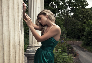 portrait of a calm blonde beauty