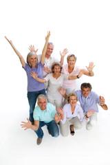 Fröhliche Rentner