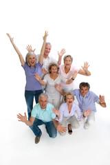 Ausgelassene Rentner