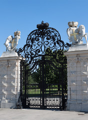 Eingang von Schloß Belvedere