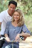 couple in a bike