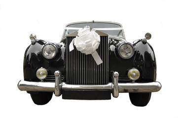 wedding limousine,  old car