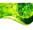 Grüne Discokugel
