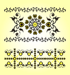 horizontal ornament with heart