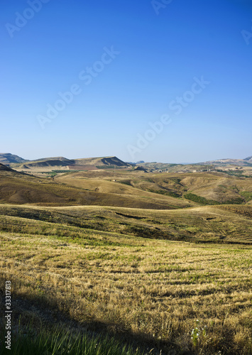 Italy, Sicily, panoramic view of the countryside