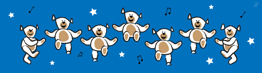 Dancing Bears (blue)