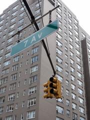 semaforo nella 7 Av di New York
