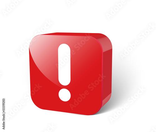 Ausrufezeichen 3d Button