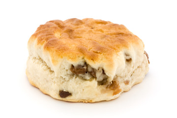 Fruit scone over white
