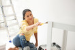 lovely housewife painting