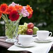 Tea time in garden