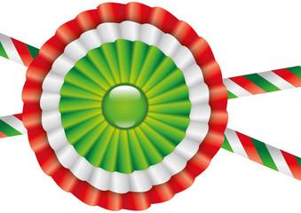 Coccarda con colori della bandiera italiana