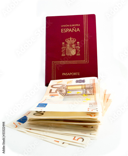 Spanish Passport and money