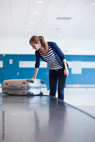 Baggage reclaim at the airport