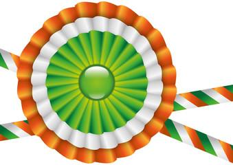 Coccarda con colori della bandiera irlandese