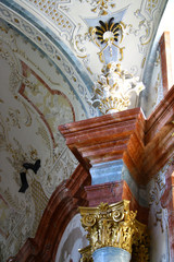 Detail of the pillar in the church