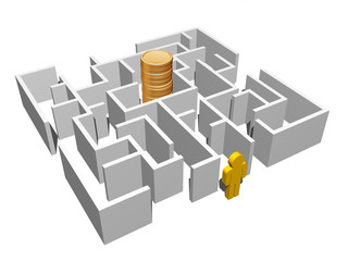 labyrinth and gold coins