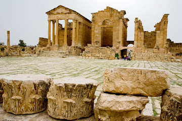 Capitol temples, sbeitla, tunisia