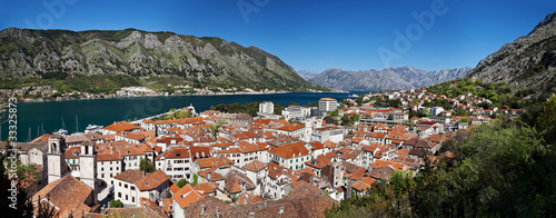 panorama of the city of Kotor