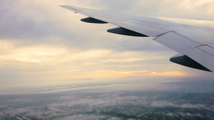 the view from the airplane to the sky