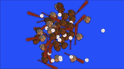 Background with chroma key blue: baseball