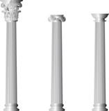 Corinthian Ionic Doric columns poster