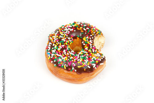 Donut with Sprinkles with Bite Missing