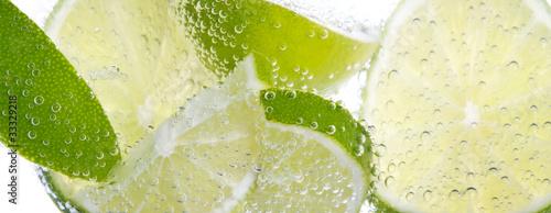 Hintergrund mit Lemmon und Zitrone