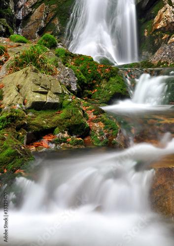 Plakat Waterfall in the national park Sumava-Czech Republic