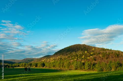 Dawn na Litchfield Hills w Connecticut
