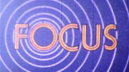 FOCUS Vintage 8mm Film Leader Texture Loop