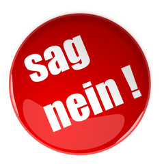 3d button in rot, Sag nein !
