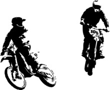 Dwa motocross riders