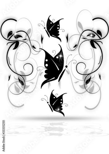 schmetterling mit ornamenten von danu lizenzfreier vektor 33335250 auf. Black Bedroom Furniture Sets. Home Design Ideas