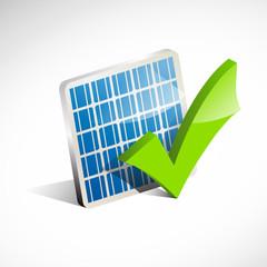 Check solar panel # Vector