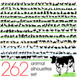 Fototapety 262 animals silhouettes set