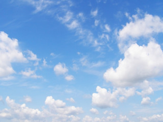 blue sky and white clouds 1