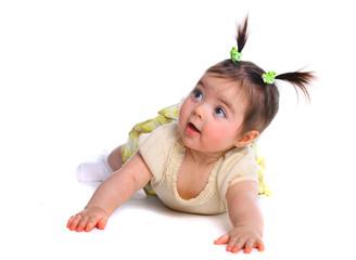 Baby girl on the floor