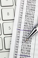 TAN Liste für online banking