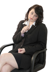 Business Woman In Meeting 03