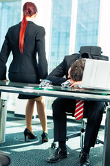Business - Stress im Büro